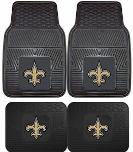 New-Orleans-Saints-Heavy-Duty-Floor-Mats-2-amp-4-pc-Sets-for-Cars-Trucks-amp-SUV-039-s