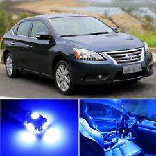 6 x Premium Blue LED Lights Interior Package Kit for Nissan Sentra 13-15 + Tool