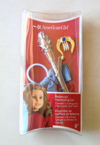 NEW American Girl REBECCA/'S HAIRSTYLING SET For Dolls Hair Curling Iron Comb Bow