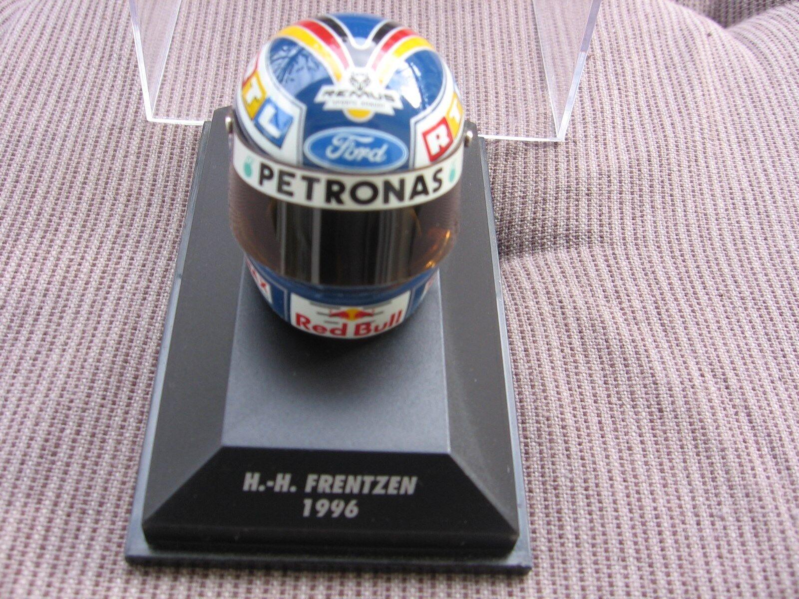 H.h. frentzen f1 f1 f1 limpio ford rojo bull 1996 1 8 Helmet Minichamps New  ffc34a