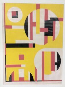 Manipulated Serigraph by Sandu Darie, original signed by the artist.
