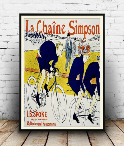 La Chaine Simpson French cycling advertising poster reproduction.