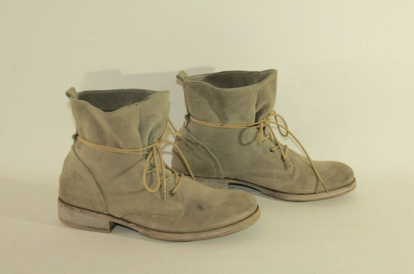 Beige Suede TAMARIS Lace Up Round Toe Combat Cargo Casual Ankle Boots Size 5  38