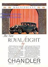 Chandler Royal Eight US insegne 1927 USA America Cleveland pubblicità ad