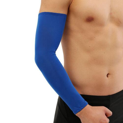 1Pair Sport Arm Sleeves UV Protection Anti-slip Basketball Armband Tattoo Cover