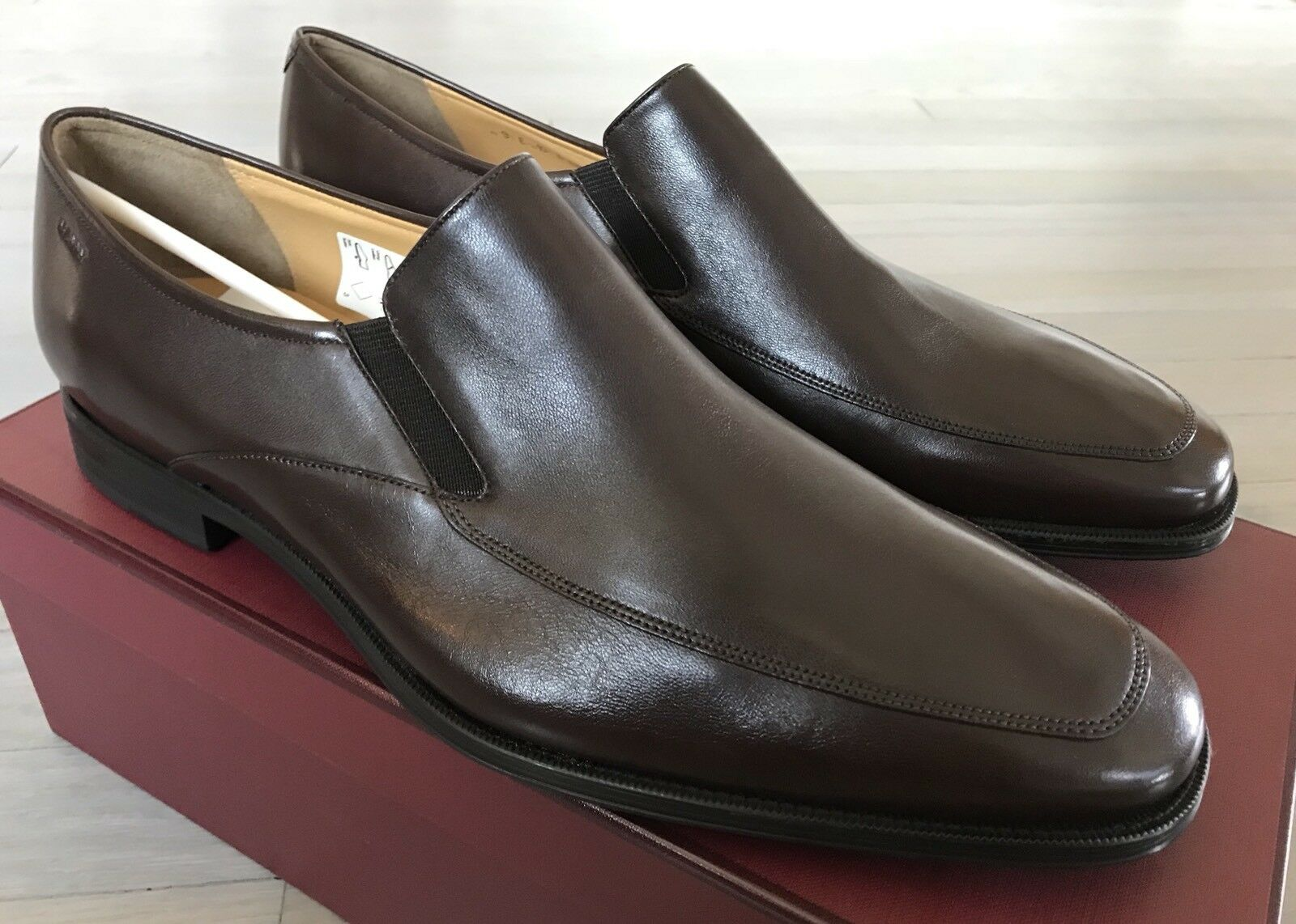 600  Bally Pelle Brown Thor Pelle Bally Loafers Size US 10.5 Made in Switzerland ab9202