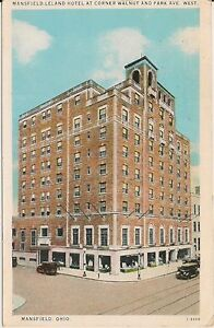 Image Is Loading Mansfield Leland Hotel Ohio Oh Postcard 1928