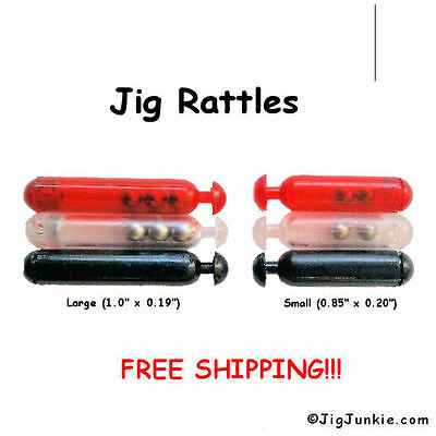 double ear Rattle skirt collars with 10 rattles Black 5 Jig Rattles