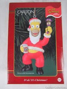 Carlton-Christmas-Heirloom-Ornament-D-039-oh-It-039-s-Christmas-Santa-Homer-Simpson