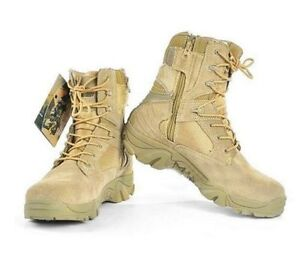 2 Colors Synthetic Leather Fashion Combat Military Ankle Boots Mens Army Shoes