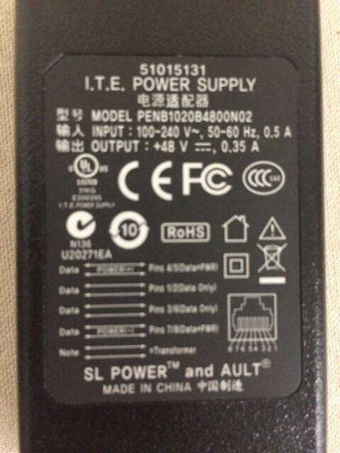 ITE 48VDC POWER OVER ETHERNET ADAPTER POE # PENB1020B4800N02 #51015131 NEW