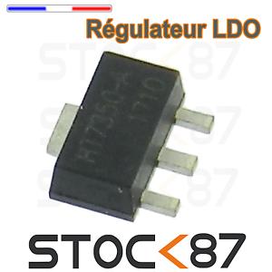 SOT-89 1596-5# 2 à 50pcs régulateur 5 v HT7350 Low Power Consumption LDO