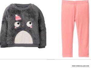 NWT Gymboree Winter Star Fuzzy Penguin Top Leggings Baby Toddler Girl
