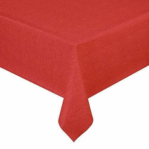 Wachstuch Tischdecke Wachstischdecke Lack Leinen Rot Breite & Länge wählbar