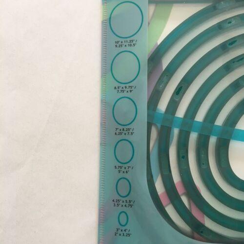 754A 6 Oval Shapes Tonic Studios Shape-Mate System NEW
