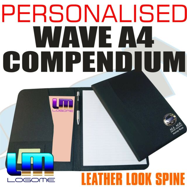 Personalised Full Colour Printed 'Wave' A4 Compendium Office Business Gift Boss