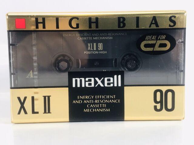 Maxell XLII 90 Minute High Bias Blank Cassette Tape Japan