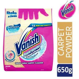 Vanish Carpet Rug Cleaner Upholstery Power Powder Freshener Shake & Clean 650g