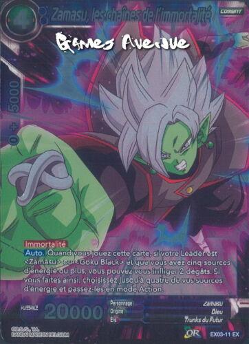 Dragon Ball Super Card Game les Chaines EX03-11 VF//EX FOIL Zamasu