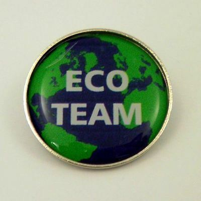 Eco Team Metal Pin Badge with Brooch Fitting