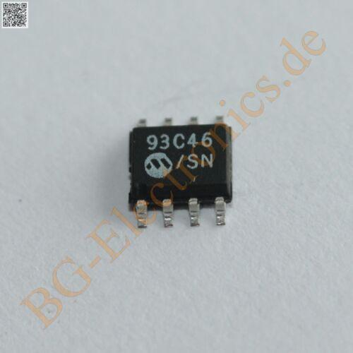 5 x 93C46 SN 256 Bit//1K 5.0V CMOS Serial EEPROM 93C46SN Microchip SO-8 5pcs