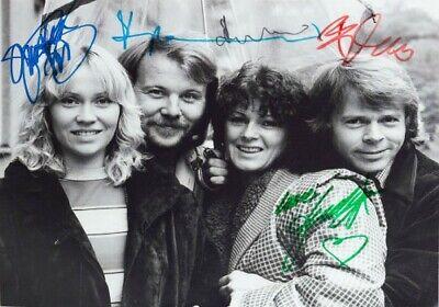 Agnetha Anni-frid Benny Bjorn Abba Music Band Signed Autograph PRINT 6x4 Gift