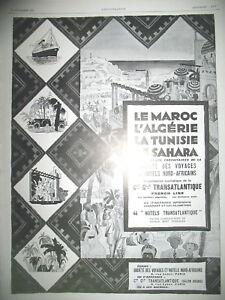 Publicite-de-Prensa-Compania-Gle-Transatlantico-Marruecos-Algeria-Tunez-Francesa