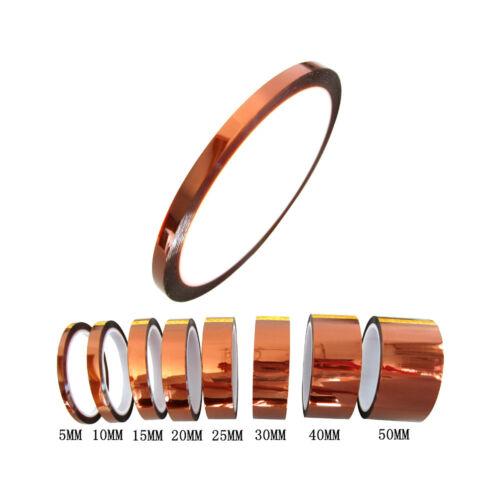 50mm 5cm x 30M Kapton Tape High Temperature Heat Resistant Polyimide GBM