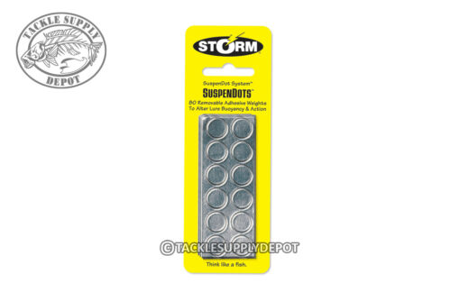 Storm SuspenDots 80 pack of Stick On Weight Dots Silver