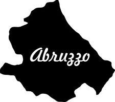 "2x Auto Aufkleber Italien Region "" ABRUZZEN "" 11x10 cm Sticker Abruzzo"