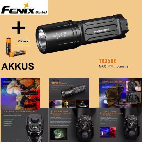 2018 Fenix TK35UE Ultimate Edition LED Taschenlampe 3200 Lumen USB 2 Akkus