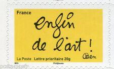 FRANCE 2011, timbre AUTOADHESIF les timbres de  BEN, enfin de l' art, neuf**