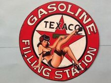 sticker autocollant TEXACO GASOLINE PIN UP  9 cm