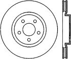 Disc Brake Rotor-Sport Drilled Disc Front Right Stoptech 128.63061R