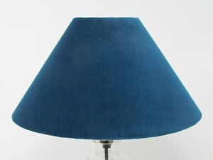 Small Empire Blush Pink Tapered Velvet Lampshade Choice of Colours Green Blue