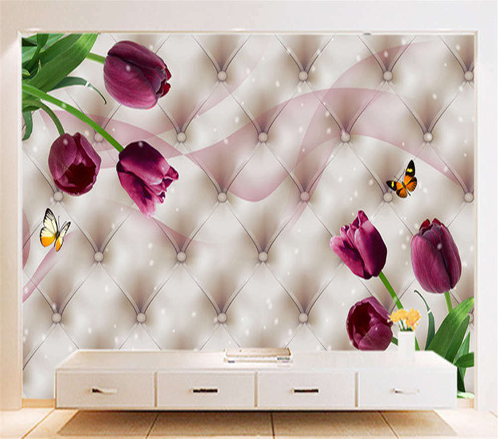 Flowers Lead Butterfly 3D Full Wall Mural Photo Wallpaper Print Home Kids Decor