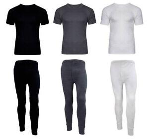 Boys Girls Thermal Long Johns Kids Top T Shirt Bottom Warm Children/'s Vest Set