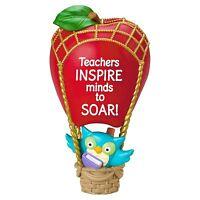 Thank You Teacher 2016 Hallmark Ornament Red Apple Hot Air Balloon Christmas Owl