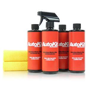 AutoKit-Pro-Waterless-Car-Wash-Cleaner-Carnauba-Wax-Body-Polish-Shield-Shine