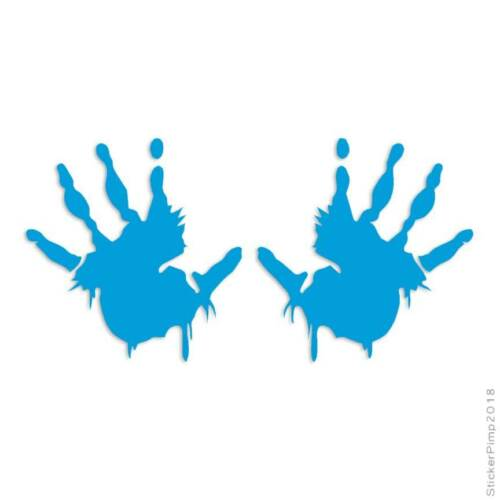 Size #116 Bloody Zombie Handprints Decal Sticker Choose Color