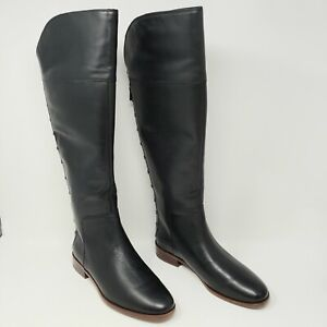 Franco Sarto Black Leather Roselle 7.5