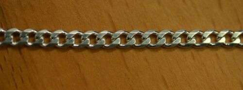 "18/"" 8.3 mm Solide Argent Sterling 925 6 faces COLLIER grosse chaîne made in Italy"
