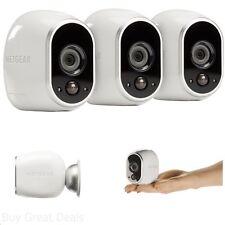 NETGEAR Arlo Home Security System 3 Wireless HD Camera Indoor Outdoor Night