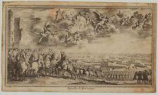 SCHLACHT von FONTENOY Original Cochin Kupferstich um 1750 Burgund Frankreich