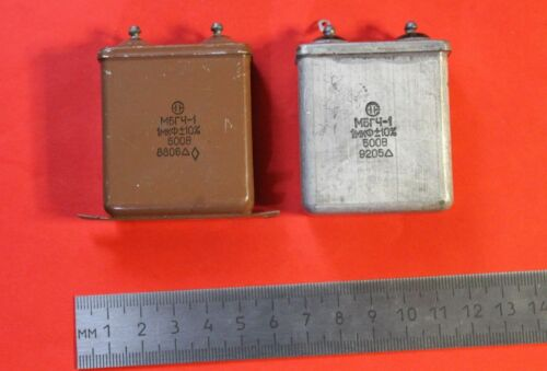Capacitor PIO MBGCH-1 500V 1uF 10/% USSR Lot of 2 pcs