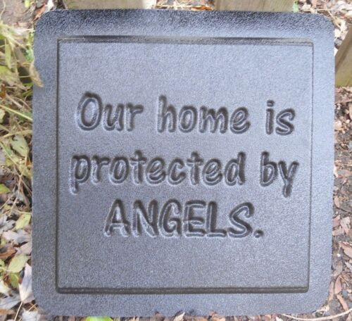 "Our home is protected by angels plastic mold concrete plaster mould 11/"" x 11/"""