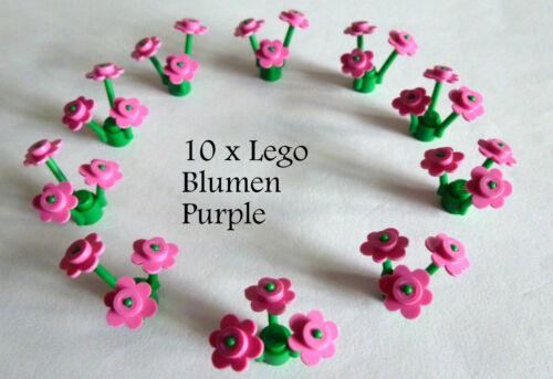 10 Stück LEGO® City,Blumen,Wiese in der Farbe purple Neuware LEGO Bau- & Konstruktionsspielzeug