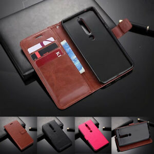 best service 99cff 437df Details about For Nokia 6 2018 7 Plus Magnetic Leather Wallet Flip Card  Slots Stand Case Cover
