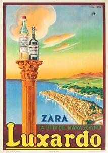 Affiche Originale - Raverta - Luxardo - Maraschino - Zara Croatie - Liqueur 1939