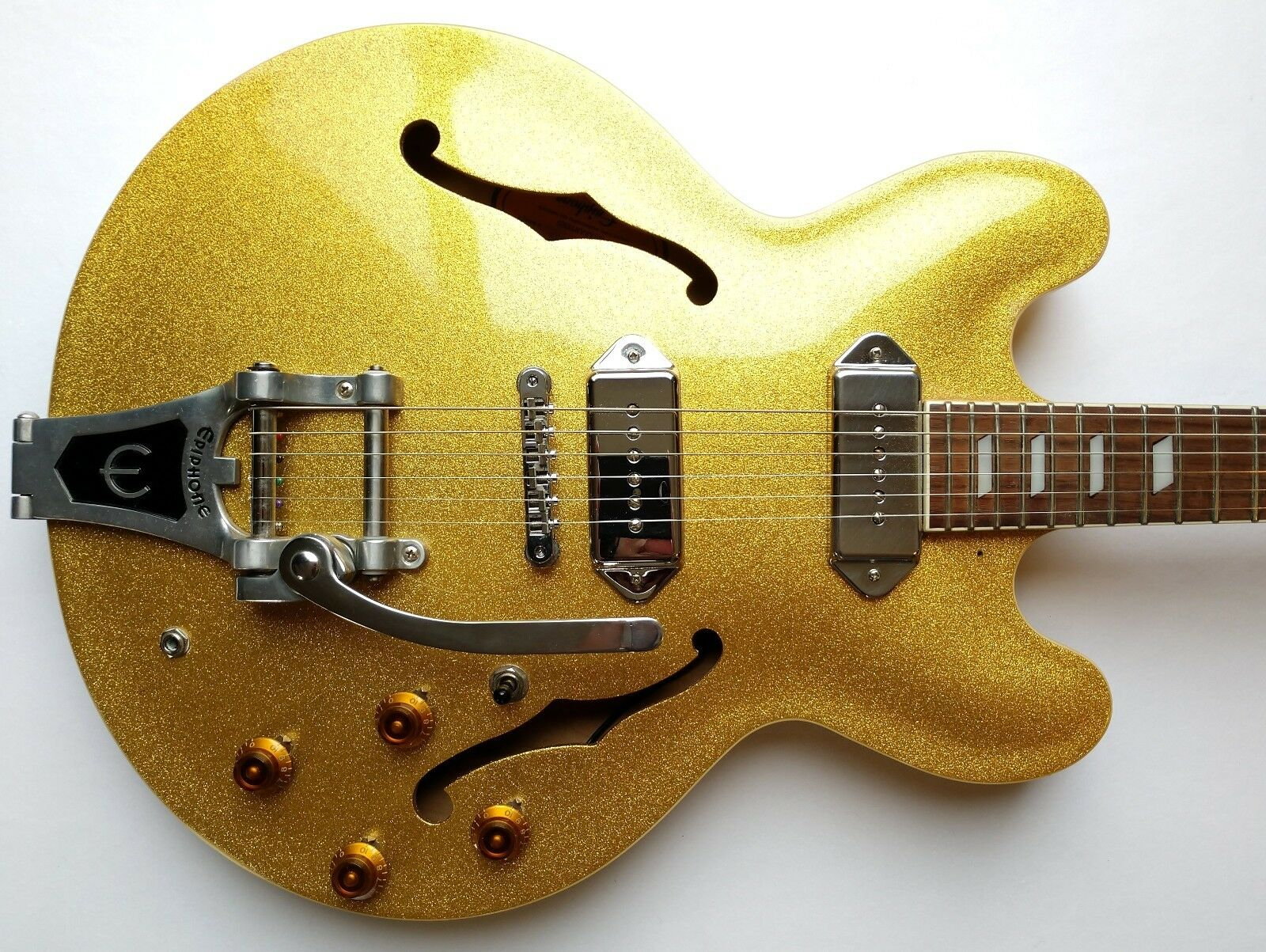 Epiphone Casino VT-GF Hollow Body Electric Guitar Very Rare 1996 Gold MIK w HSC